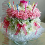 Images of birthday cakes with flowers