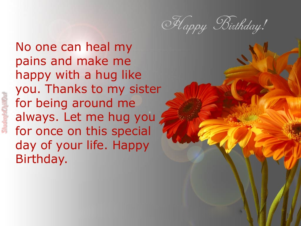 Birthday Wishes And Greetings To Who Has Best Sister Studentschillout