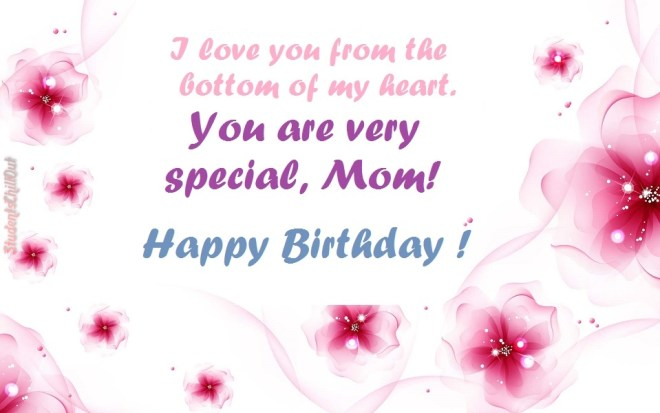 Printable birthday cards | Happy Birthday Mom