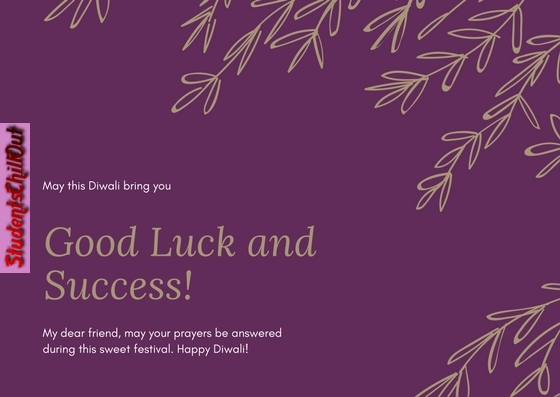 Good Luck and Success - Diwali Greeting Card