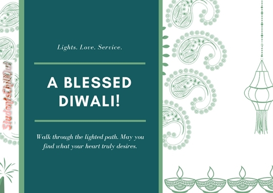 A Blessed Diwali - Greeting Card