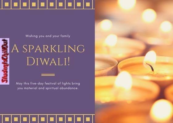 A sparkling Diwali Card