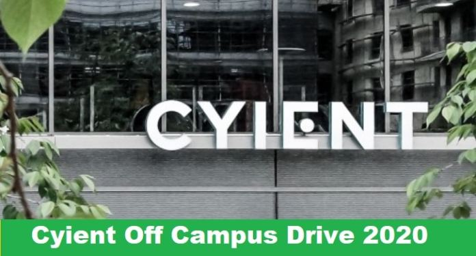 Cyient Off Campus Drive 2020