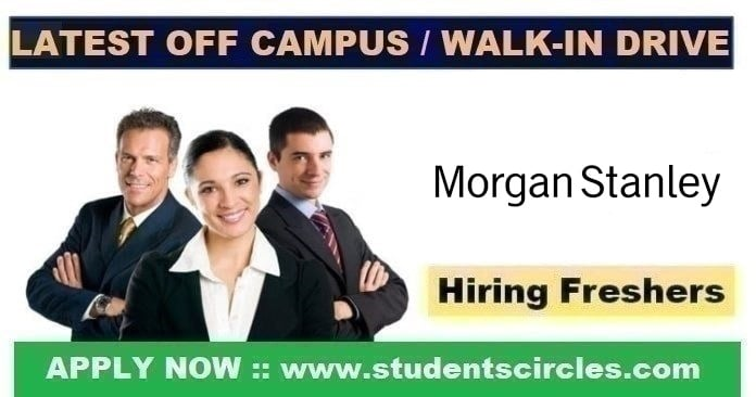 Morgan Stanley Recruitment 2020