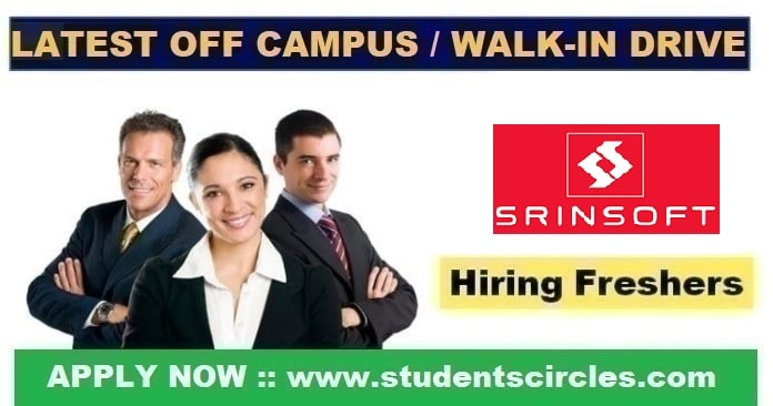 SrinSoft Technologies Off Campus Drive 2020