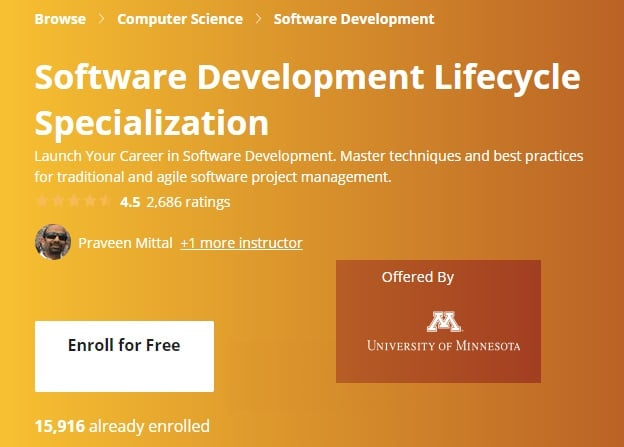 Software Development Lifecycle Specialization