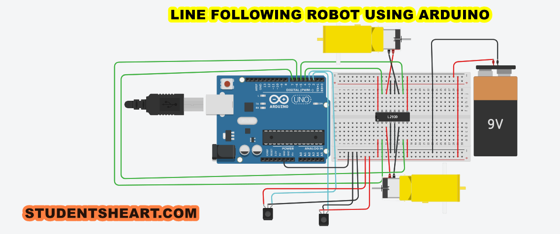 Line Follower Robot Using Arduino Electronic Circuits And Diagram