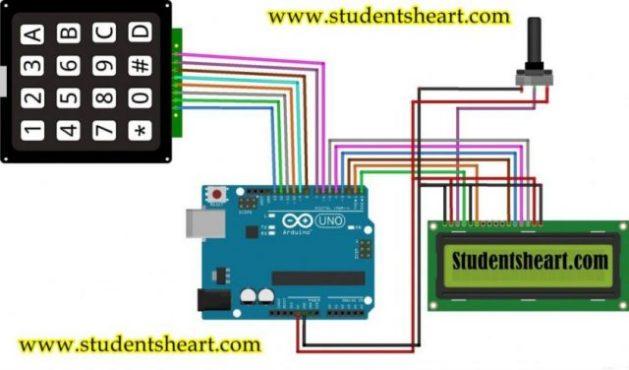 Arduino based Calculator Diagram