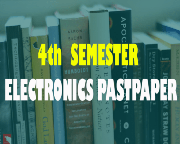 Past Papers of 4th Semester