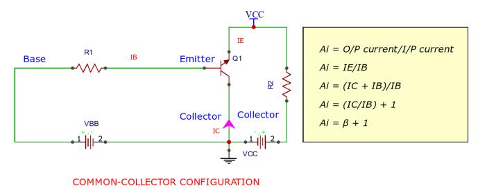 Circuit Diagram of Common Collector Configuration
