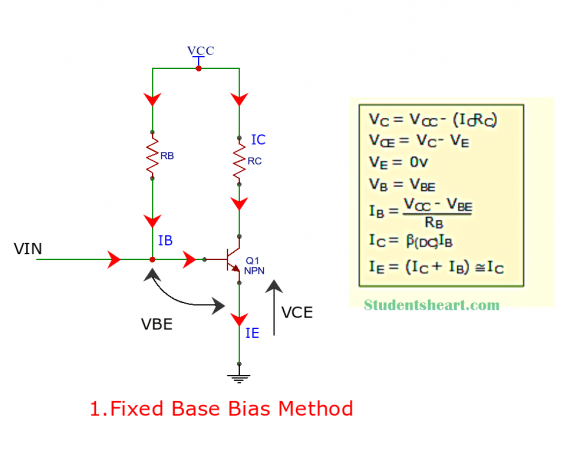 Fixed base bias circuit
