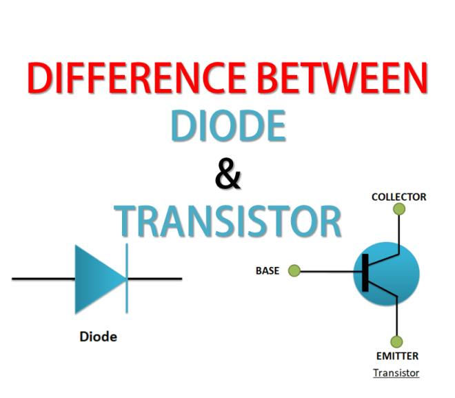 Difference Between Diode and Transistor, Diode Vs Transistor