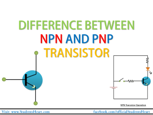 difference between NPN and PNP transistor