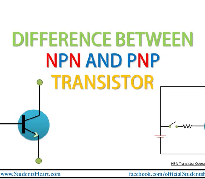 Differences between NPN and PNP Transistor, NPN vs PNP