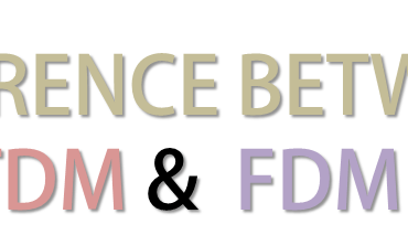 Differece between TDM and FDM