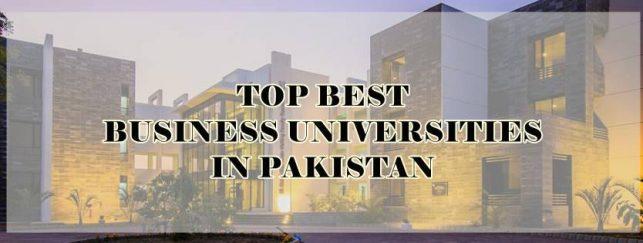 Best Business Universities in Pakistan 2019