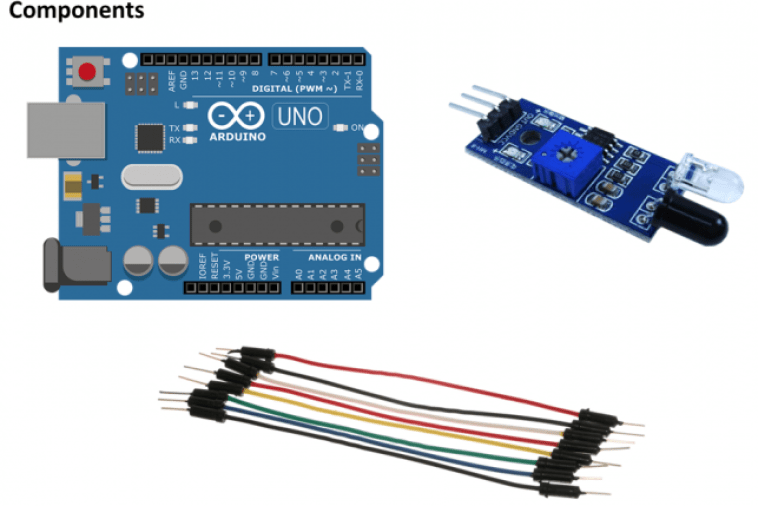 components required for ir sensor project