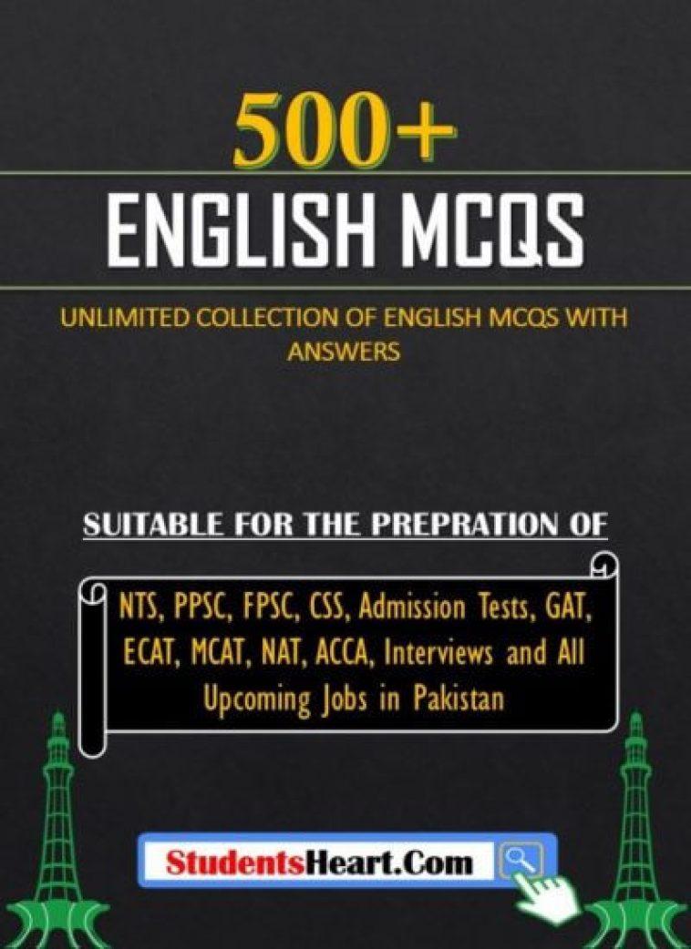 English MCQs