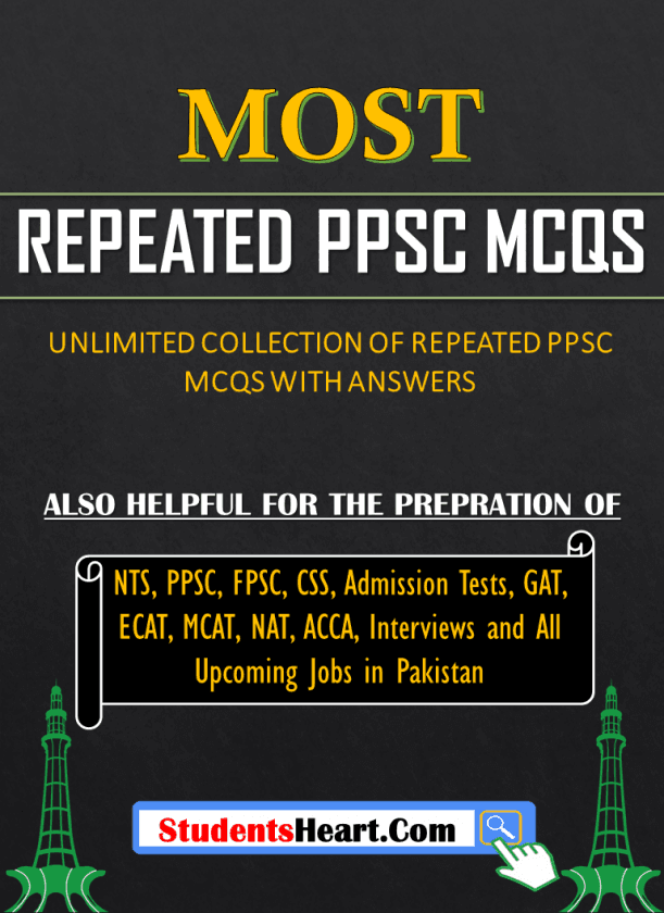 List of MOST REPEATED PPSC MCQs