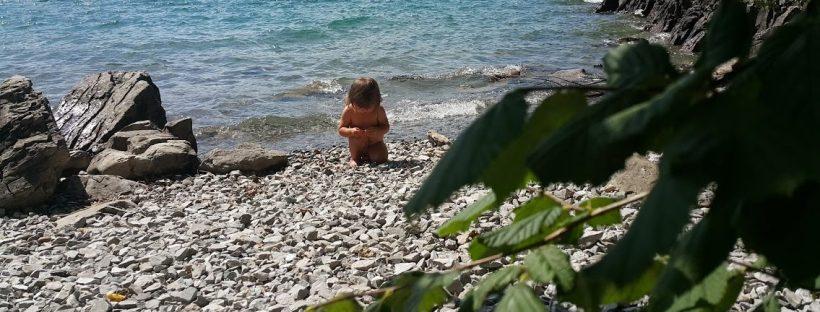 Dojenček na morju