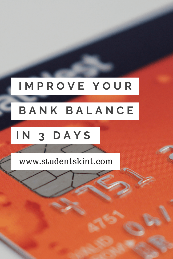 Improve your bank balance