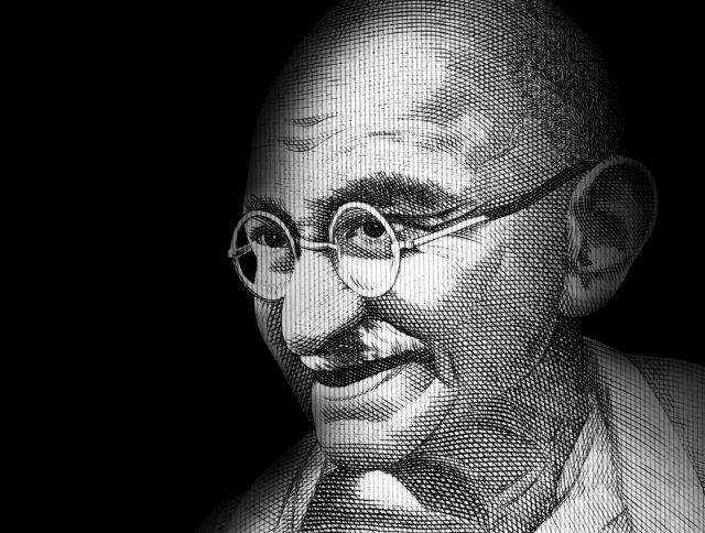 Mahatma Gandhi illustration