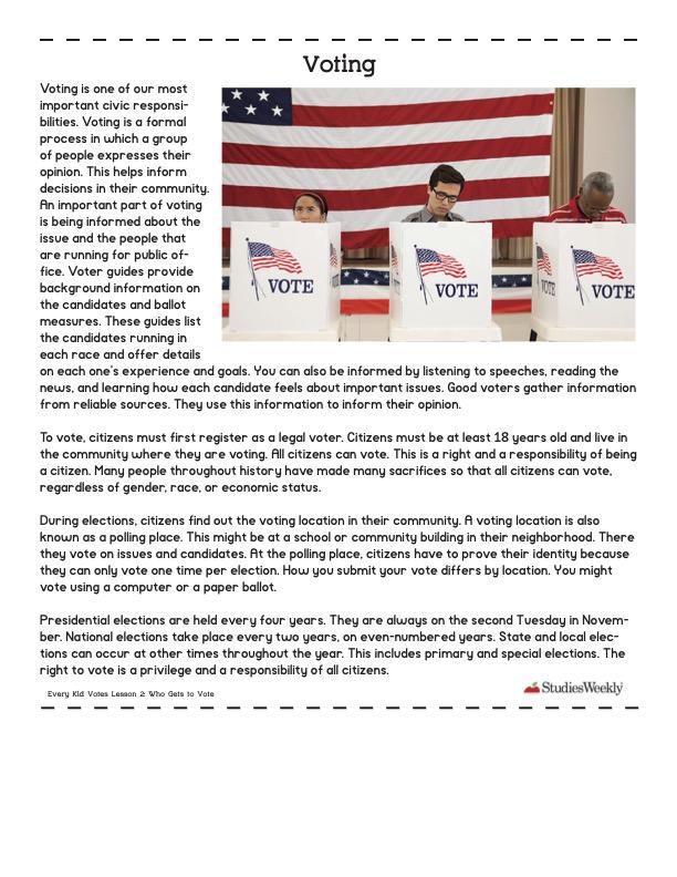 Studies Weekly Voting Article