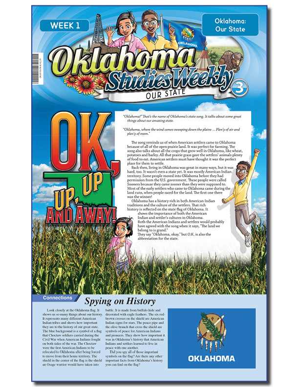 TAA award-winning Oklahoma Studies Weekly publication