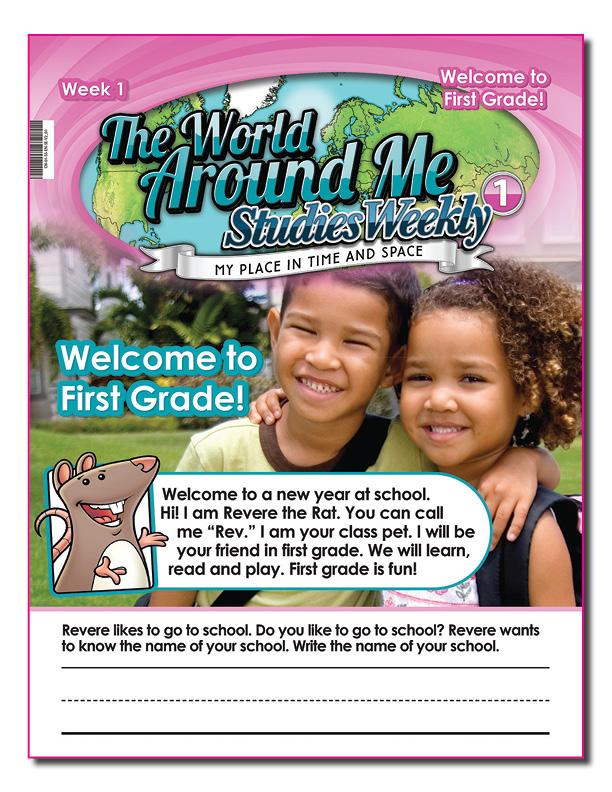TAA award-winning Oklahoma Studies Weekly publication first grade edition