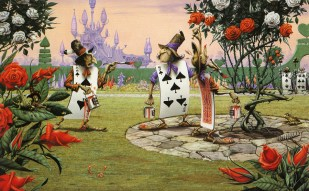 rodney_matthews_alice-in-wonderland_painting-the-roses