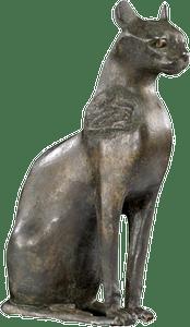 La déesse Bastet sous sa forme de chatte Origine : Egypte Vers 650-350 avant J.C.