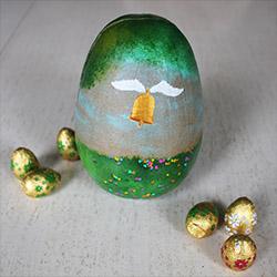 Oeuf de Pâques peint
