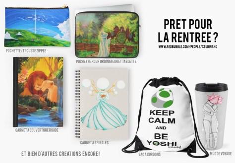 Sur la boutique Redbubble de Studinano, ce sont des carnets, des mugs, des trousses ou des pochettes pour protéger vos appareils électroniques vous attendent ! Et plein d'autres choses encore ;) http://www.redbubble.com/people/studinano
