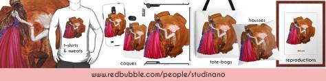 Découvrez la large gamme de produits à l'effigie des travaux de Shou' sur la boutique Redbubble de Studinano !