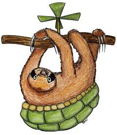 Parélice (hybride paresseux / tortue) (commande/commission)