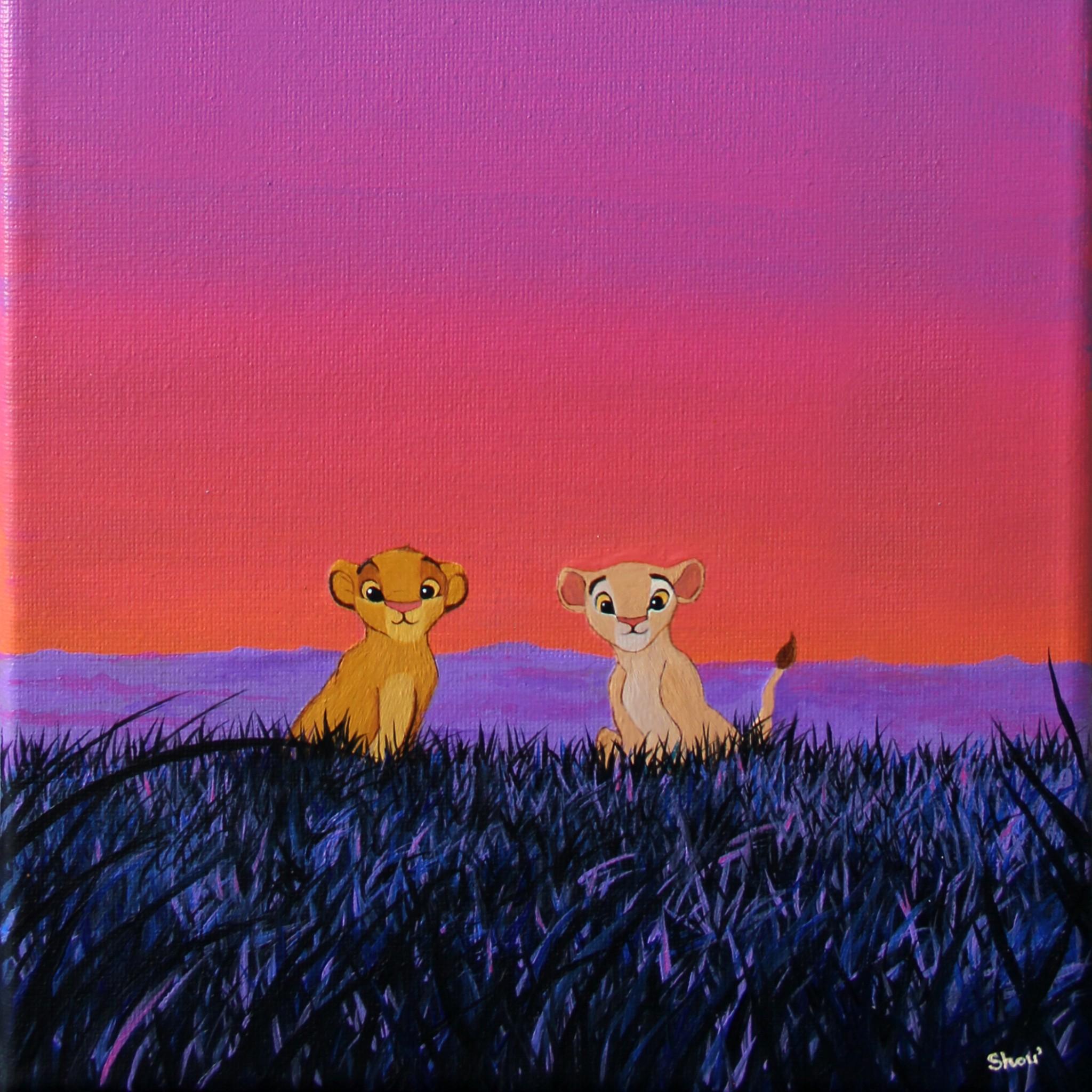 Acrylic On Canvas Sunset Painting