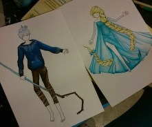 Elsa et Jack Frost (Work in progress)