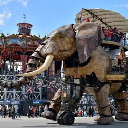 Photo du Grand éléphant de L'île de Nantes.