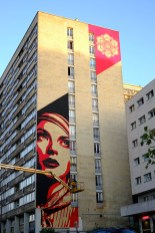 OBEY, Titre inconnu Street art, 2012 Angle Vincent Auriol/Jeanne D'Arc Paris 13e (75)