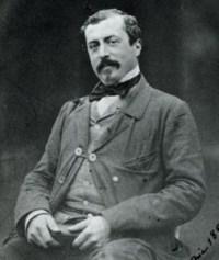 Photographie de Sir Richard Wallace, créateur des Fontaines qui portent aujourd'hui son nom.