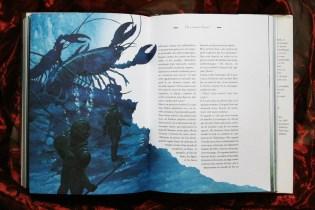 Aperçu d'une page intérieure de Vingt mille lieues sous les mers, Edition Gründ 2002