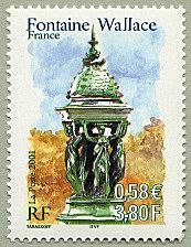 Timbre à l'effigie d'une Fontaine Wallace, 2001.