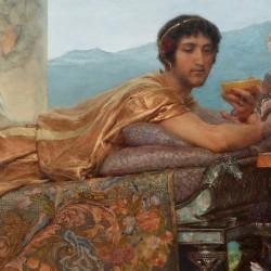 Héliogabale ou Élagabal, détail issu de la peinture de Lawrence Alma-Tadema.