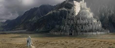 La ville de Minas Tirith dans Le Retour du Roi (film de 2003).