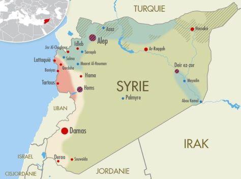 Carte de la Syrie.
