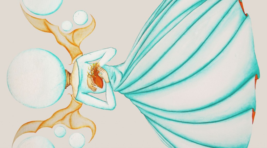 La Fée Electricité (The Electricity Fairy), Peinture acrylique sur papier Canson, 2015
