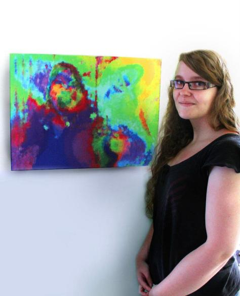 Le Cri (issu de la série Brush Strokes) Pixel art, 2011 Impression sur toile