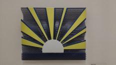 Sunrine [Lever du soleil] Roy Linchtenstein (1923-1997) 1965 Porcelaine émaillée sur feuille d'acier perforée New-York, collection particulière