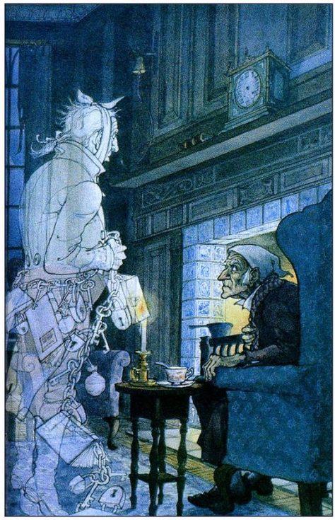 Illustration de Trina Schart Hyman pour A Christmas Carol (Un Chant de Noël) de Charles Dickens.