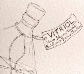 Inktober 2018, Jour 18 : Bottle (détail)